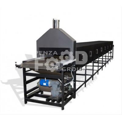 Печь тоннельная кондитерская электрическая б/у 600 мм  7 секций